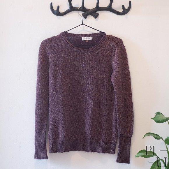 Calvin Klein Purple & Gold shinny sweater size S